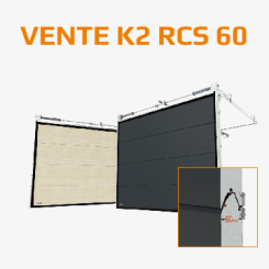 WE INTRODUCE A NEW MODEL OF WARM GARAGE DOOR – VENTE K2 RCS 60  WITH STYLISH NARROW EMBOSSMENT