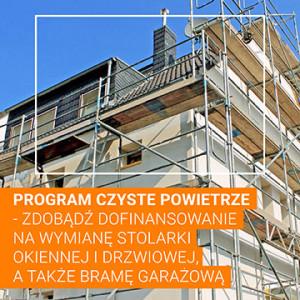 Program Czyste Powietrze – zdobądź dofinansowanie na wymianę stolarki okiennej i drzwiowej