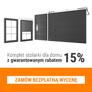 Komplet stolarki KRISPOL z gwarantowanym RABATEM 15%