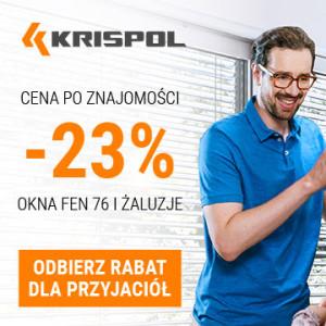 """Okna i żaluzje w cenie """"po znajomości"""" od KRISPOL"""
